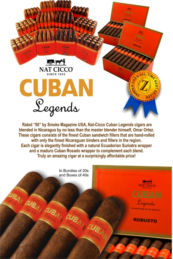 NAT CICCO CUBAN LEGENDS Torpedo Natural